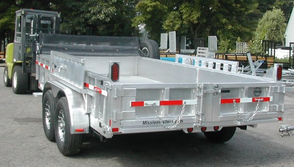 Mission Dump Trailer 14', Galvanized